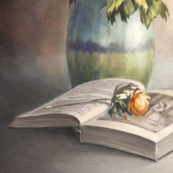 """картина маслом """"Читая роман"""", фрагмент"""
