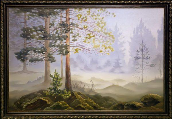 """картина """"Туманное утро в лесу"""""""