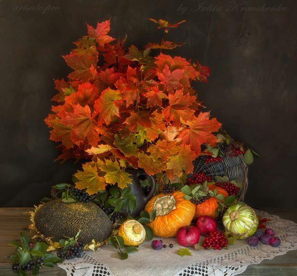 Натюрморт с кленовыми листьями 2