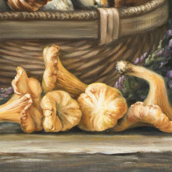 Натюрморт с грибами и вереском, фрагмент