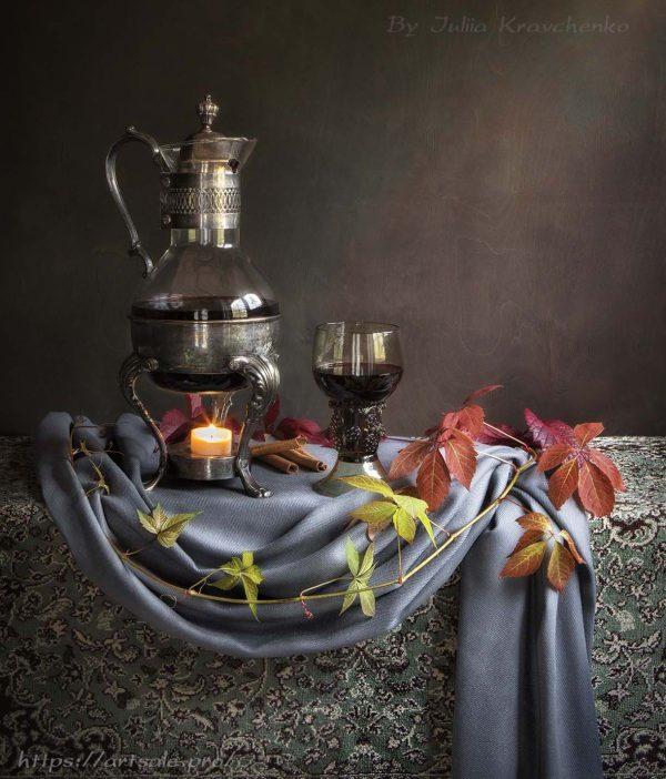 Фото натюрморт с кувшином глинтвейна, автор - Юлия Кравченко.