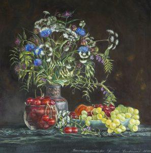 Натюрморт с полевыми цветами, автор Юлия Кравченко.