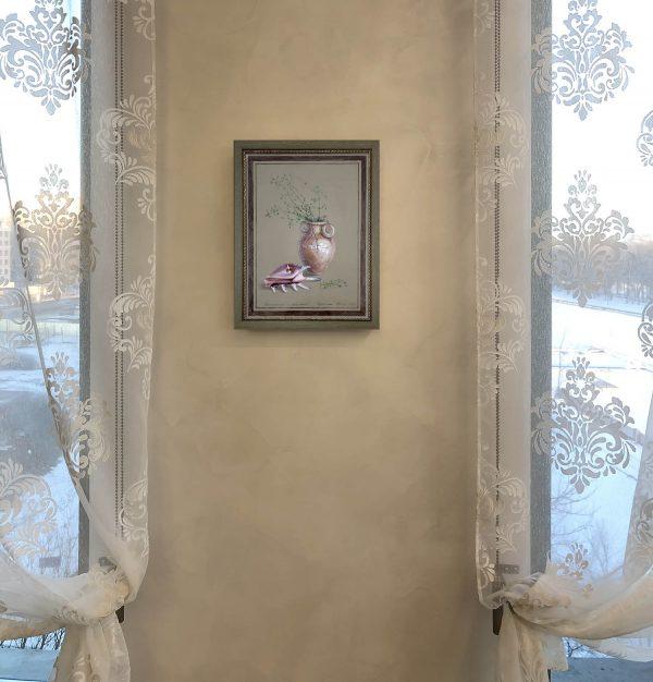 Натюрморт с ракушкой, фото в интерьере. Автор Юлия Кравченко. https://artsale.pro/