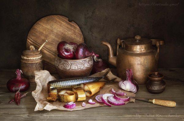 Фото натюрморт со скумбрией, автор - Юлия Кравченко.