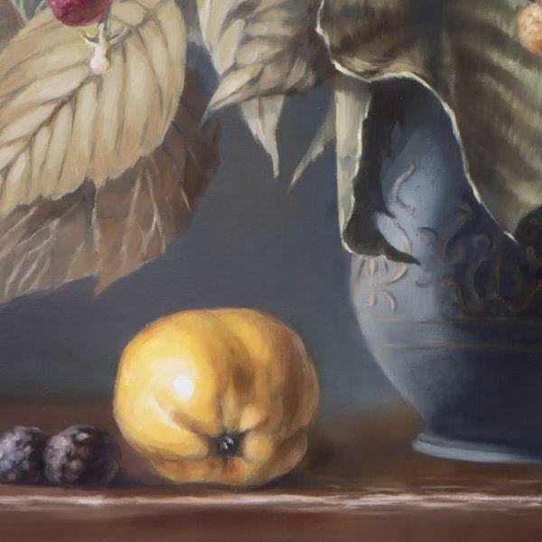 """картина """"Натюрморт с ежевикой и айвой"""", фрагмент"""