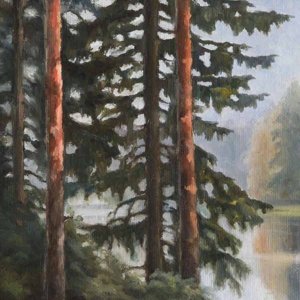 """картина маслом """"остров"""", фрагмент, автор Юлия Кравченко, artsale.pro"""